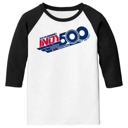 Indy 500 Youth 3/4 Sleeve Designed By Bluebubble