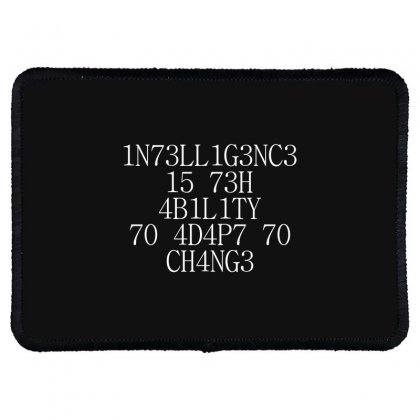 Intelligence 1 Rectangle Patch Designed By Bluebubble