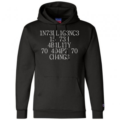 Intelligence 1 Champion Hoodie Designed By Bluebubble