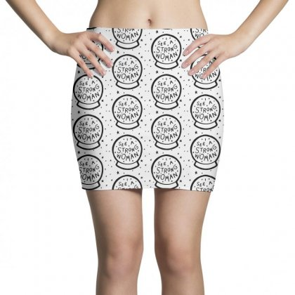 I See A Strong Woman Girl Power Mini Skirts Designed By Rodgergise