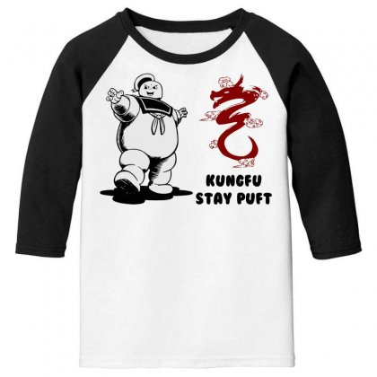 Kungfu Stay Puft Youth 3/4 Sleeve Designed By Bluebubble