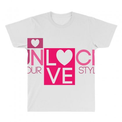 Lock Love All Over Men's T-shirt Designed By Bluebubble
