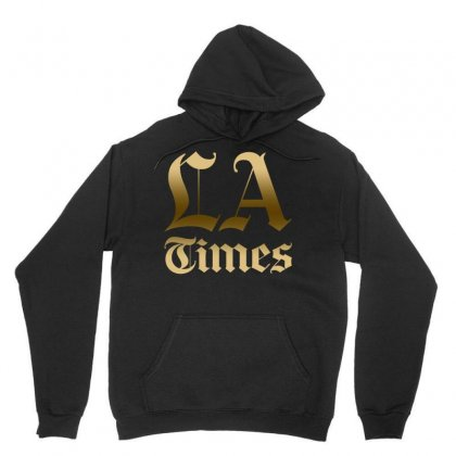 Los Angeles Times Unisex Hoodie Designed By Bluebubble