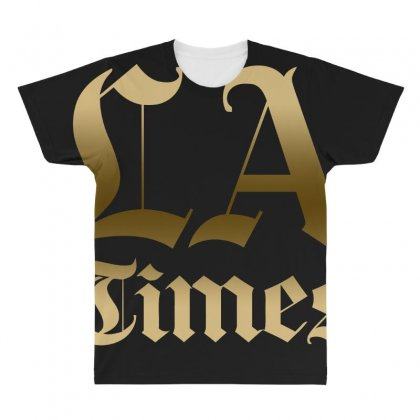 Los Angeles Times All Over Men's T-shirt Designed By Bluebubble