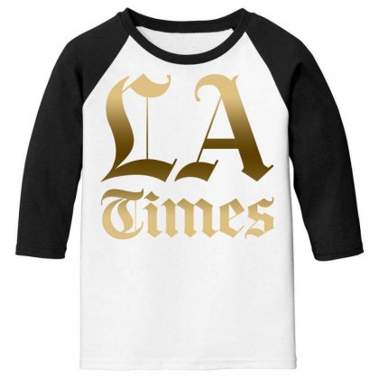 Los Angeles Times Youth 3/4 Sleeve Designed By Bluebubble