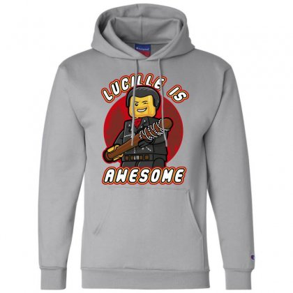 Lucille Is Awesome Champion Hoodie Designed By Bluebubble