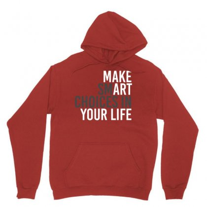 Make Smart Unisex Hoodie Designed By Bluebubble