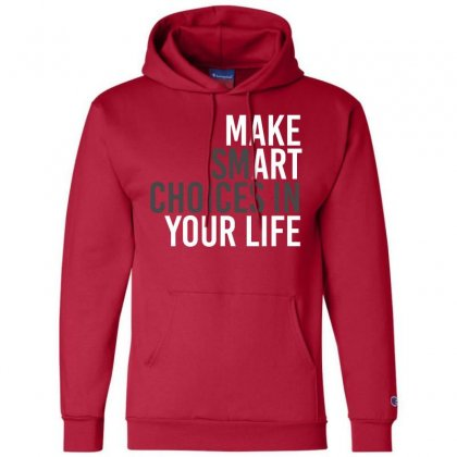 Make Smart Champion Hoodie Designed By Bluebubble
