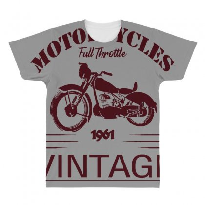 Motorcycle T Shirt All Over Men's T-shirt Designed By Bluebubble