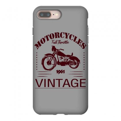 Motorcycle T Shirt Iphone 8 Plus Case Designed By Bluebubble