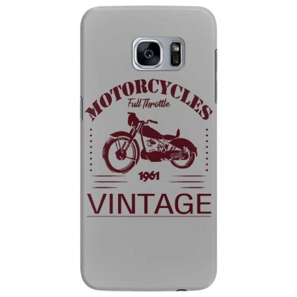 Motorcycle T Shirt Samsung Galaxy S7 Edge Case Designed By Bluebubble