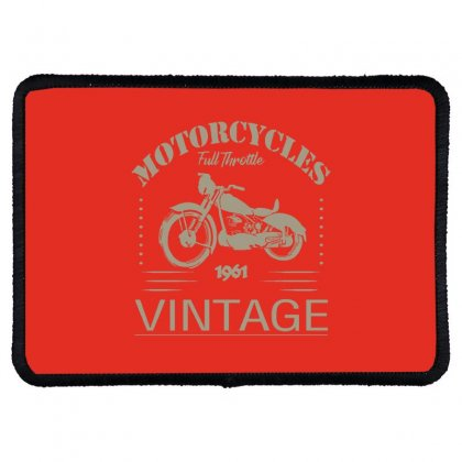 Motorcycle T Shirt Rectangle Patch Designed By Bluebubble