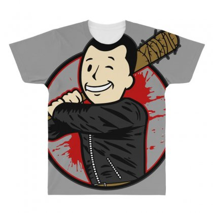 Negan Boy All Over Men's T-shirt Designed By Bluebubble