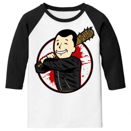 Negan Boy Youth 3/4 Sleeve Designed By Bluebubble