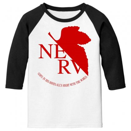 Nerv Youth 3/4 Sleeve Designed By Bluebubble