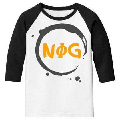 Nog 01 Youth 3/4 Sleeve Designed By Bluebubble