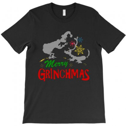 Merry Grinchmas Holiday T-shirt Designed By Rodgergise