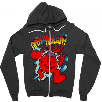 Ohhh Yeah Zipper Hoodie Designed By Bluebubble