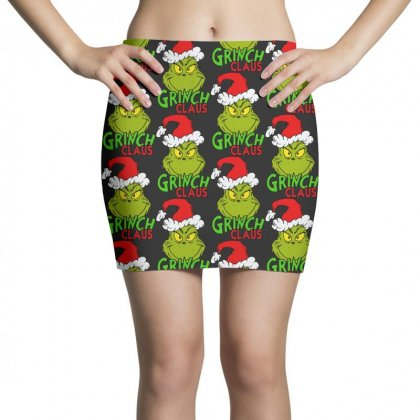 Naughty Or Nice Grinch Claus Mini Skirts Designed By Rodgergise