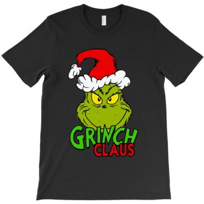 Naughty Or Nice Grinch Claus T-shirt Designed By Rodgergise