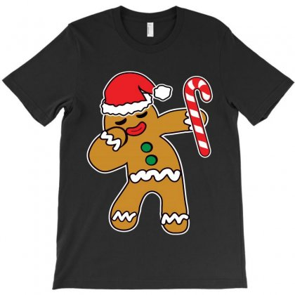 Christmas Cookie Dabbing Gingerbread Man T-shirt Designed By Rodgergise