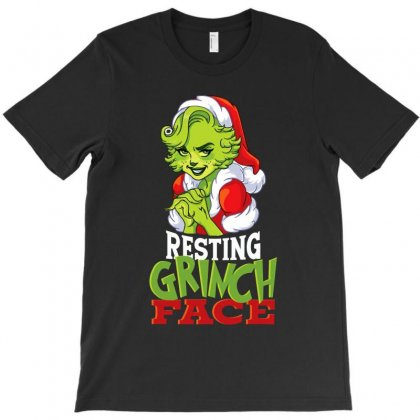 Mom's Resting Grinch Face T-shirt Designed By Tiococacola