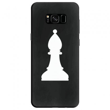 Chess Family Matching Bishop White Print Samsung Galaxy S8 Case Designed By Honeysuckle