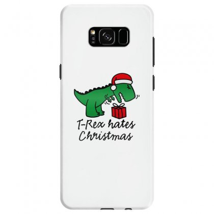 T Rex Hates Christmas Samsung Galaxy S8 Case Designed By Michelziud