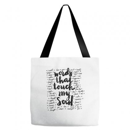 Words Tote Bags Designed By Kelimok