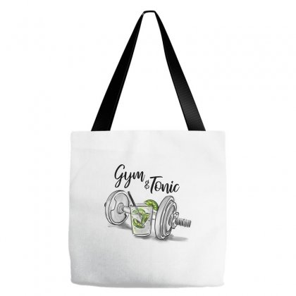 Gym And Tonic Tote Bags Designed By Kelimok