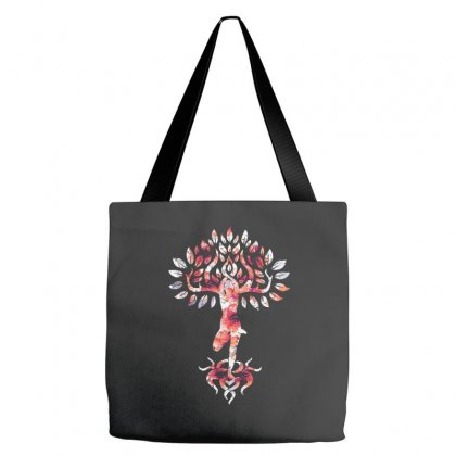Yoga Tree Buddha Yoga Meditation Tote Bags Designed By Omer Acar