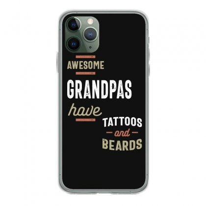 Awesome Grandpas Have Tattoos And Beards Gift Men's Iphone 11 Pro Case Designed By Cidolopez