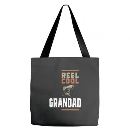 Mens Reel Cool Grandad Tee Fishing Gift Funny Tote Bags Designed By Cidolopez