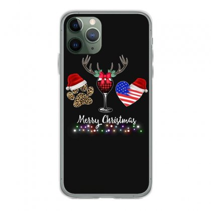 Merry Christmas American Flag And Wine For Dark Iphone 11 Pro Case Designed By Hasret