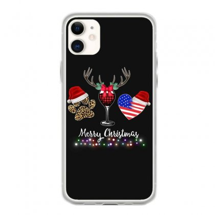 Merry Christmas American Flag And Wine For Dark Iphone 11 Case Designed By Hasret