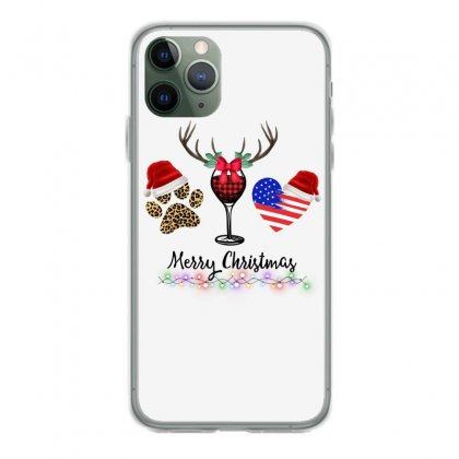 Merry Christmas American Flag And Wine For Light Iphone 11 Pro Case Designed By Hasret