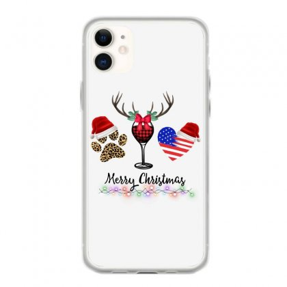 Merry Christmas American Flag And Wine For Light Iphone 11 Case Designed By Hasret