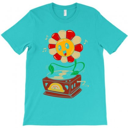 Vinyl Flower T-shirt Designed By Artwoman