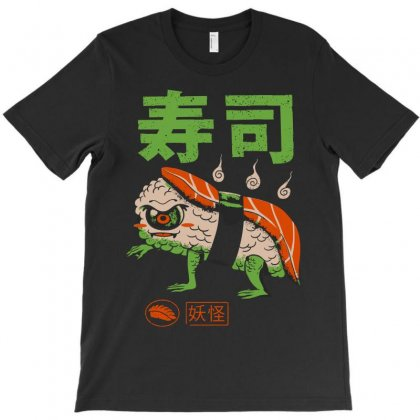 Yokai Sushi T-shirt Designed By Artwoman