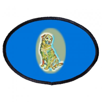 Labrador Retriever In Front O Oval Patch Designed By Kemnabi