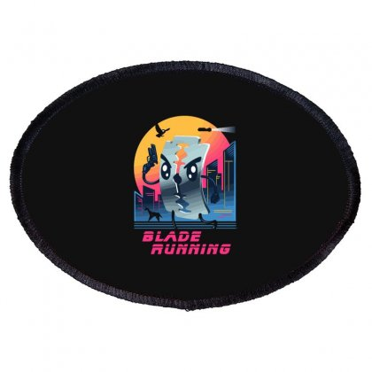 Blade Running Oval Patch Designed By Baron