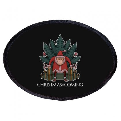 Santa Of Thrones Oval Patch Designed By Blackheart
