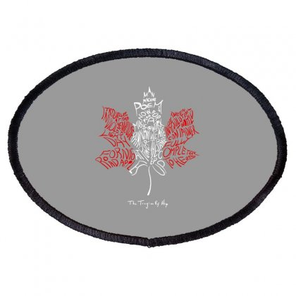 The Tragcally Hip Oval Patch Designed By Blackheart