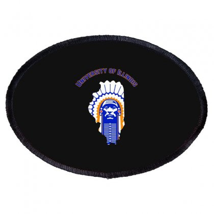 Univercity Of Illinois Chief Oval Patch Designed By Blackheart