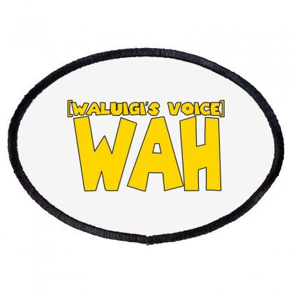 Waluigi's Voice Wah Oval Patch Designed By Blackheart
