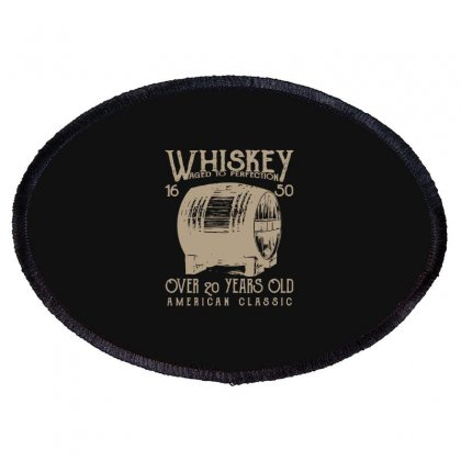Whiskey T Shirt Oval Patch Designed By Blackheart