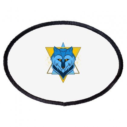 Wolf T Shirt Oval Patch Designed By Blackheart