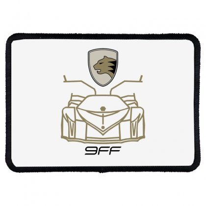 9ff Racing Logo Rectangle Patch Designed By Bluebubble
