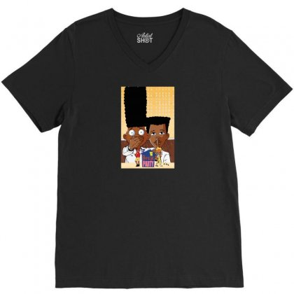 House Party V-neck Tee Designed By Baron