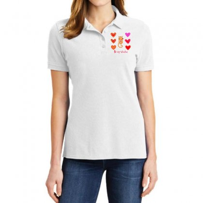 Be My Valentine Ladies Polo Shirt Designed By Estore